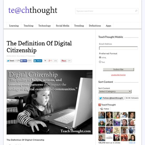 Definition Of Digital Citzenship