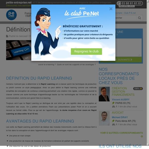 Définition du Rapid Learning