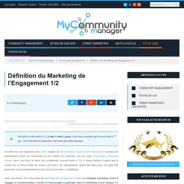 Définition du Marketing de l'Engagement
