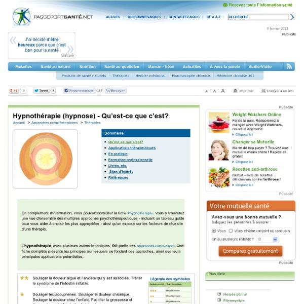 Hypnothérapie (hypnose)