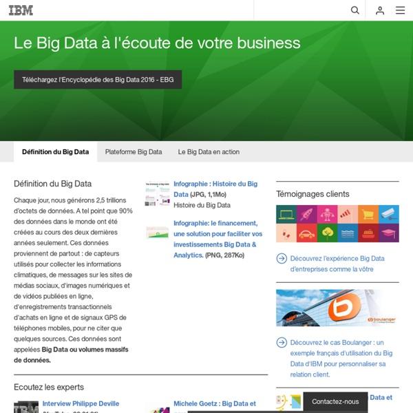 Définition du Big Data - Profitez des opportunités du Big Data - France