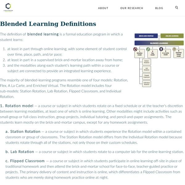 Blended Learning Model Definitions