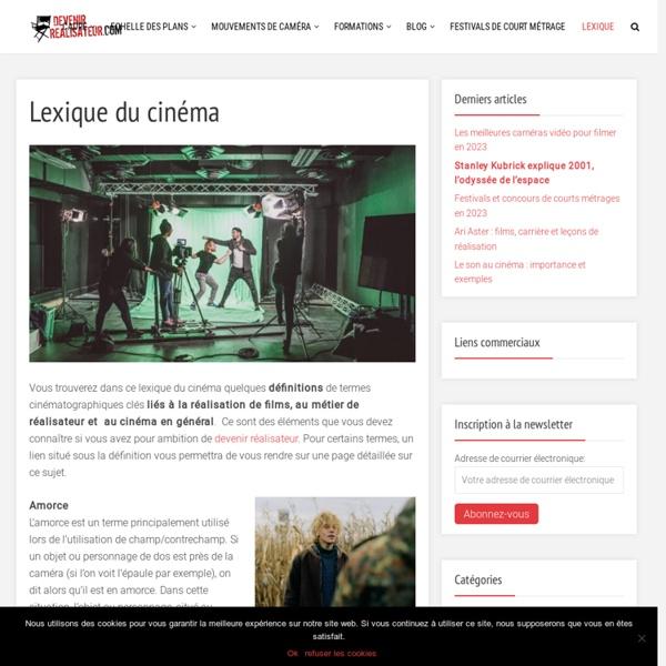 [FR] Lexique du cinéma - les définitions du vocabulaire du cinéma / Blog et cours de cinéma