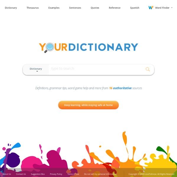 Dictionary definitions you can understand - YourDictionary