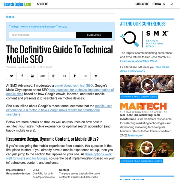 The Definitive Guide To Technical Mobile SEO