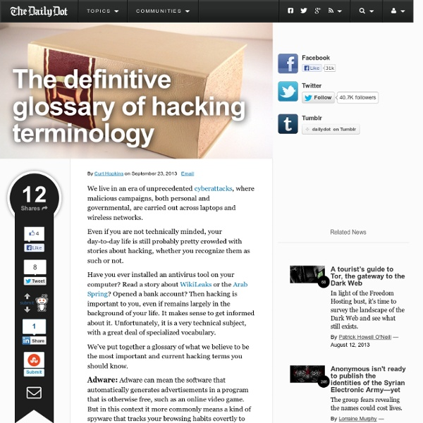 The definitive glossary of hacking terminology