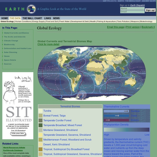 Climate Change, Deforestation, Biomes and Ocean Currents, Plankton, Endangered Species - Earth Web Site