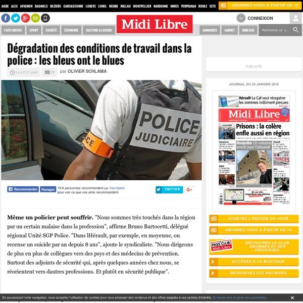 Dégradation des conditions de travail dans la police : les bleus ont le blues