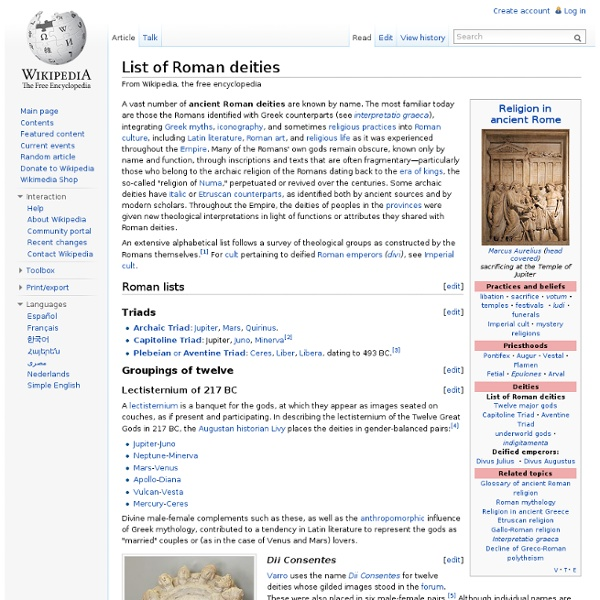 List of Roman deities