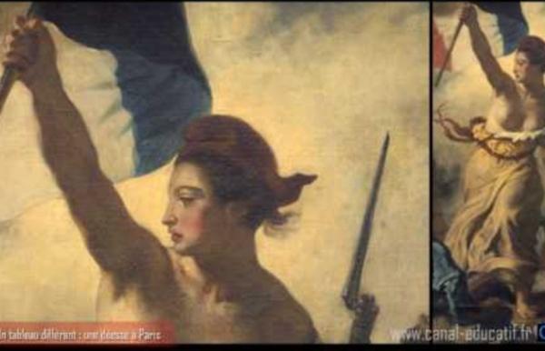 Delacroix - La Liberté guidant le Peuple - partie 1/3