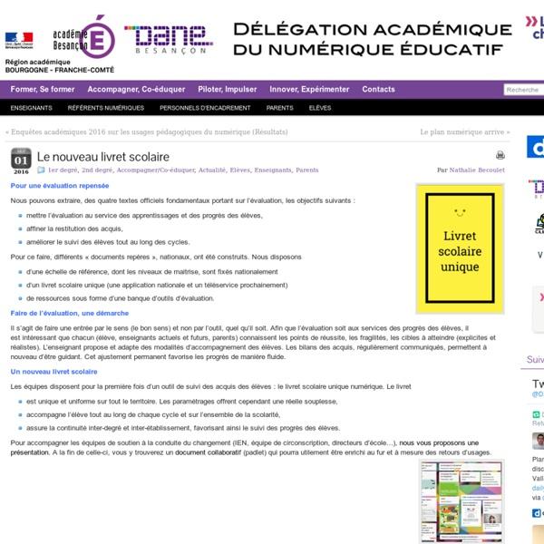 Présentation sur le site de la DANE de Besançon