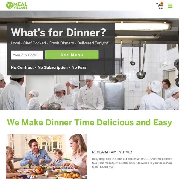 Food Delivery & Restaurants Service, Fresh Dinner Delivery Service - Meal Village