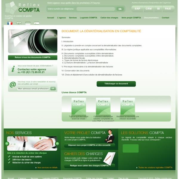 Compta: La dématérialisation en comptabilité - Documentation Livres blancs Compta Gestionnaire de comptabilité - Reflex-COMPTA.com