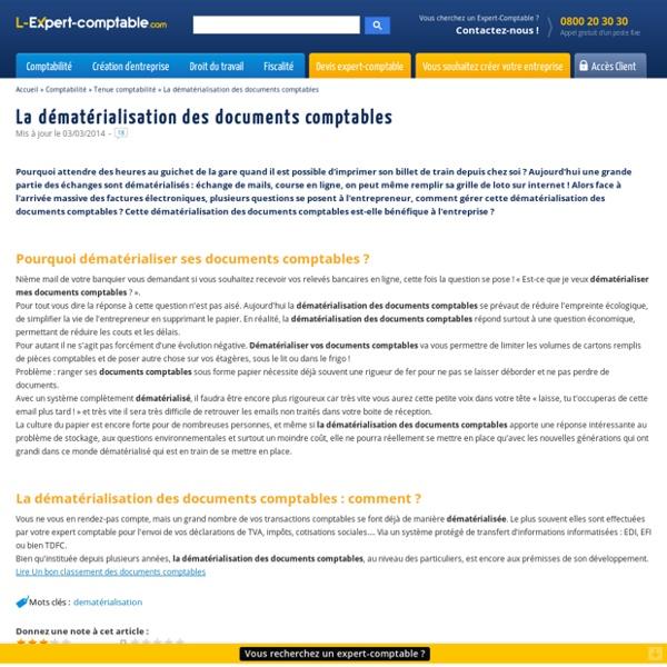 La dématérialisation des documents comptables