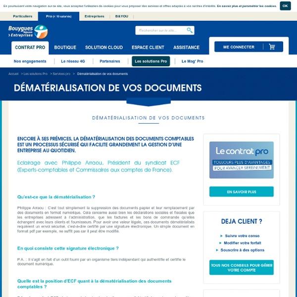 La dématérialisation : une évolution phénoménale pour les entreprises - Bouygues Telecom PRO