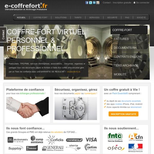 Coffre-fort virtuel® pour Particuliers et Professionels