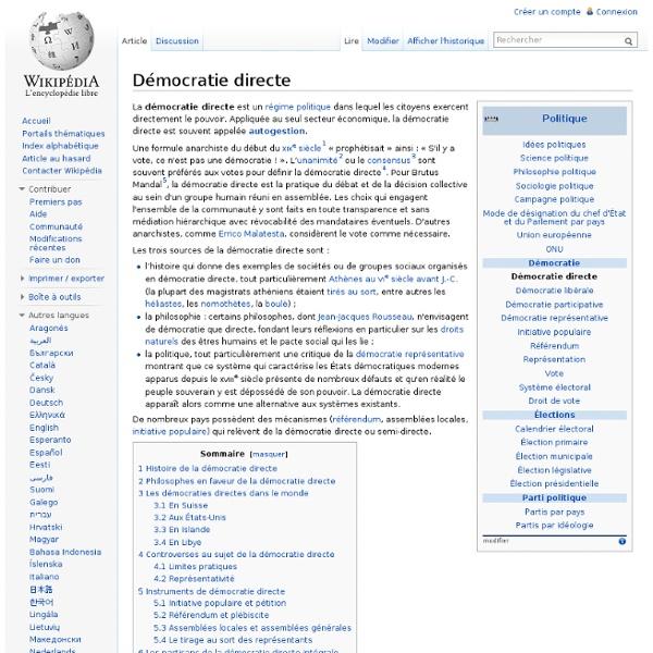 Citaten Democratie Wikipedia : Démocratie directe pearltrees