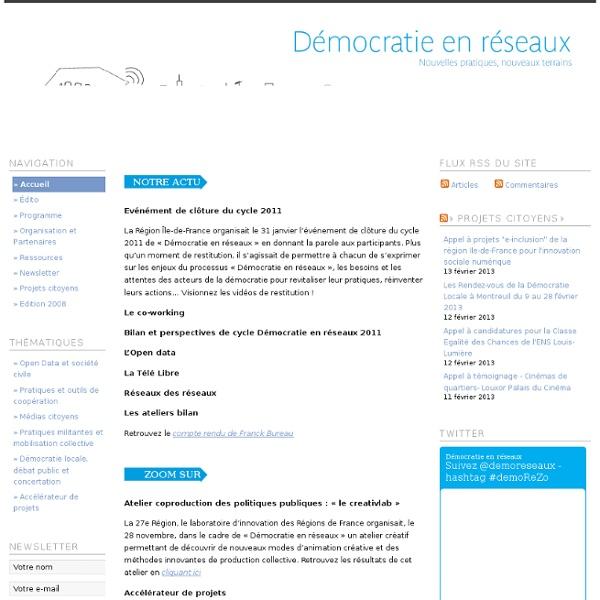 Démocratie en réseaux 2011