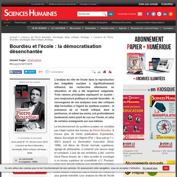 Bourdieu et l'école : la démocratisation désenchantée