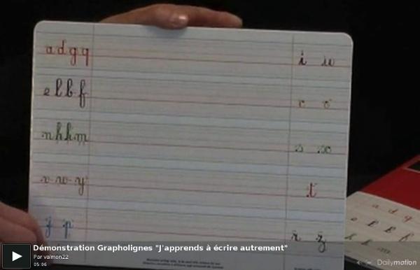 """Démonstration Grapholignes """"J'apprends à écrire autrement"""""""