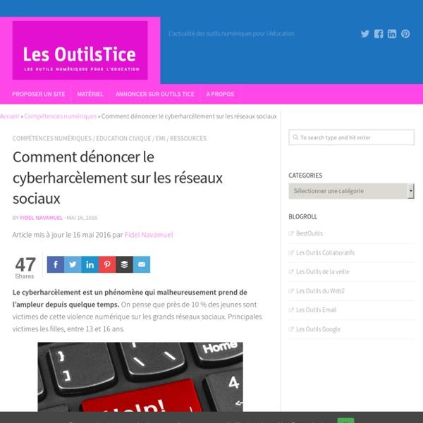Comment dénoncer le cyberharcèlement sur les réseaux sociaux – Les Outils Tice