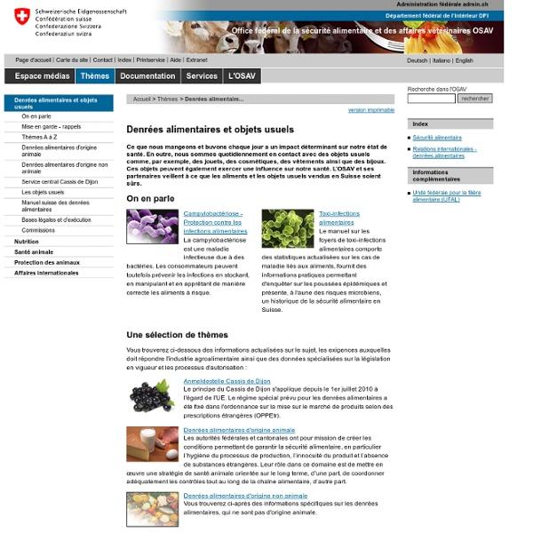 CONFEDERATION SUISSE - Aspartam - Sécurité de l'aspartame