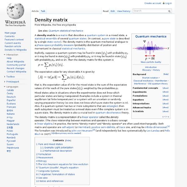 Density matrix