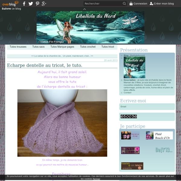 Echarpe dentelle au tricot