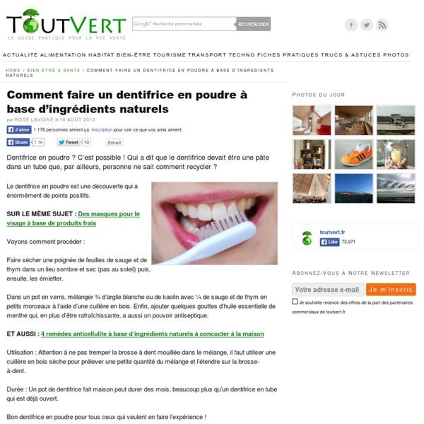 Comment faire un dentifrice en poudre à base d'ingrédients naturels