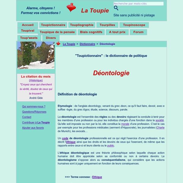 Déontologie def