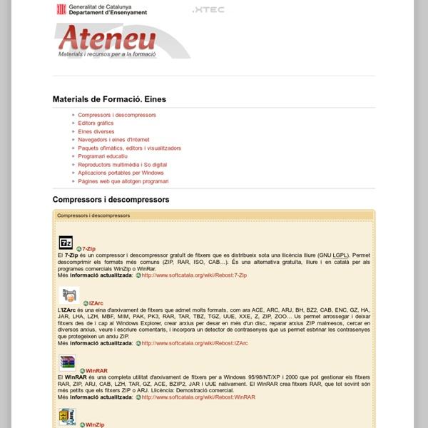 Ateneu - Materials i recursos per a la formació - Departament d'Ensenyament -