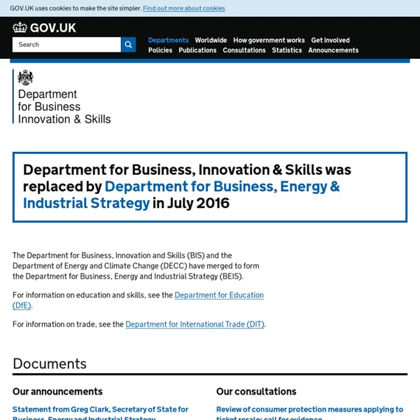 UK Department for Business, Innovation and Skills