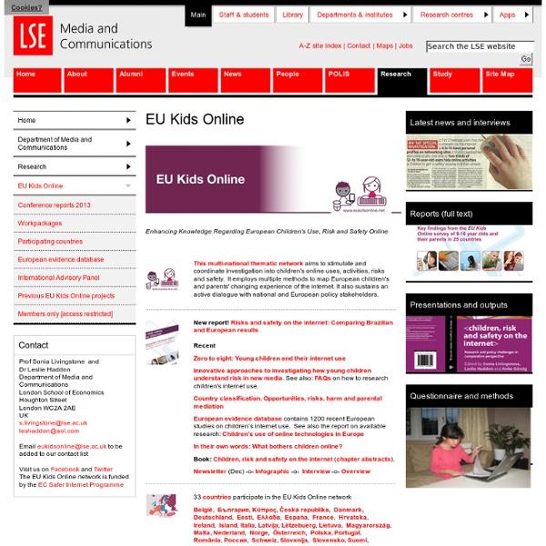 EU Kids Online - EU Kids Online - Research - Department of Media and Communications