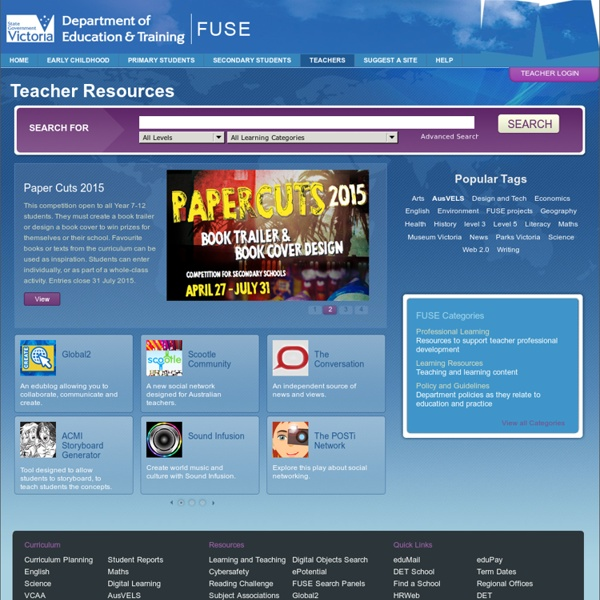 Teacher Home Page - FUSE - Department of Education & Training