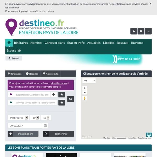 DESTINEO - Transports en Pays de la Loire Accueil