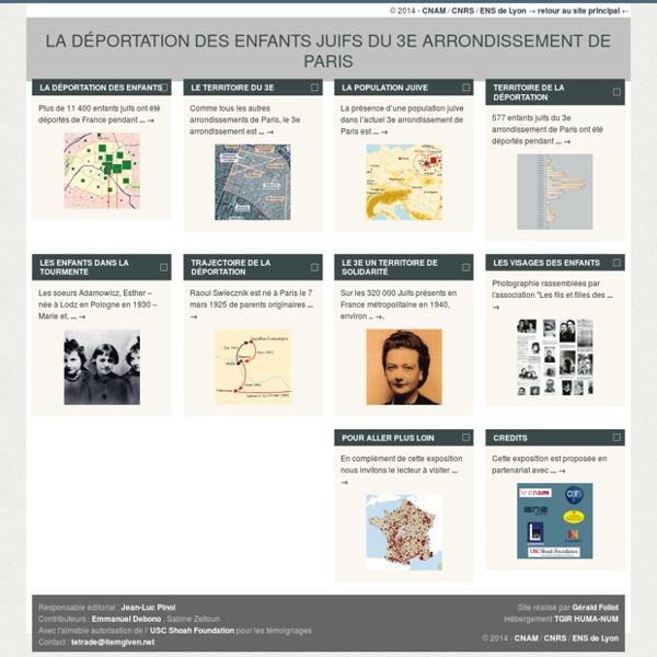 La déportation des enfants juifs du 3e arrondissement de paris