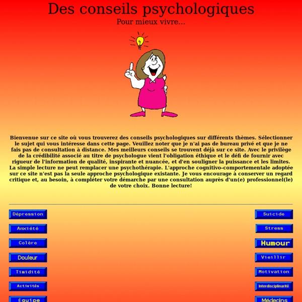 Dépression, suicide, anxiété, stress, colère, santé mentale, solitude, vie de couple, maladie, accompagner et vivre avec son ordinateur...