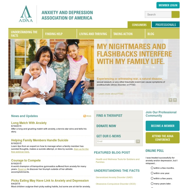 Anxiety and Depression Association of America, ADAA