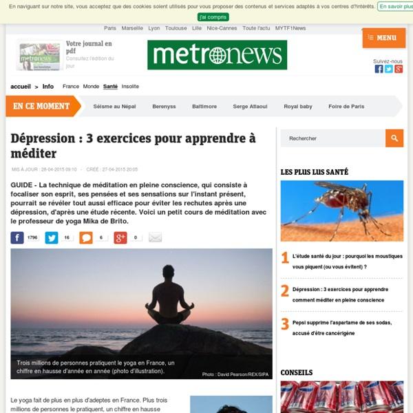 Dépression: 3 exercices pour apprendre comment méditer en pleine conscience