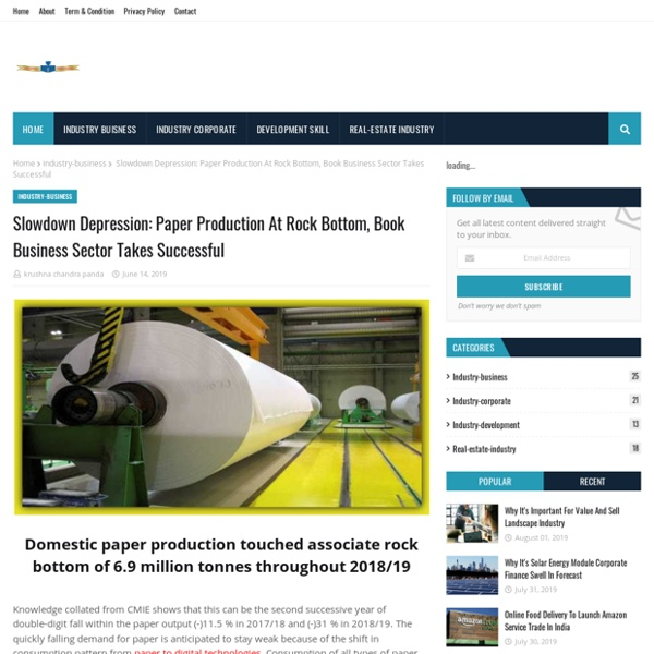 Paper Production At Rock Bottom, Book Business Sector Takes Successful