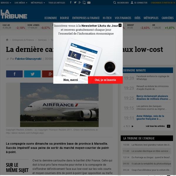 La dernière carte d'Air France face aux low-cost