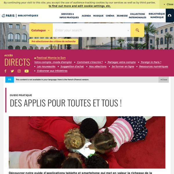 Jeunesse - Des applis pour toutes et tous !