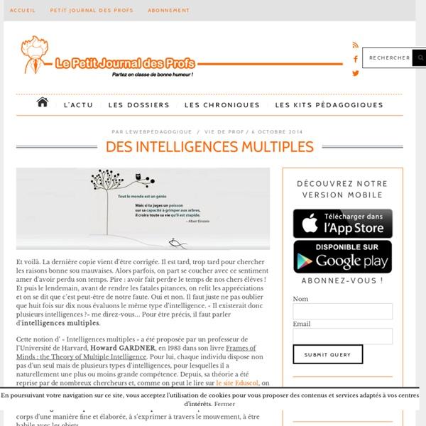 Des intelligences multiples