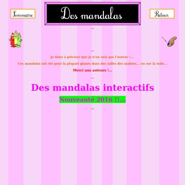 Des mandalas interactifs