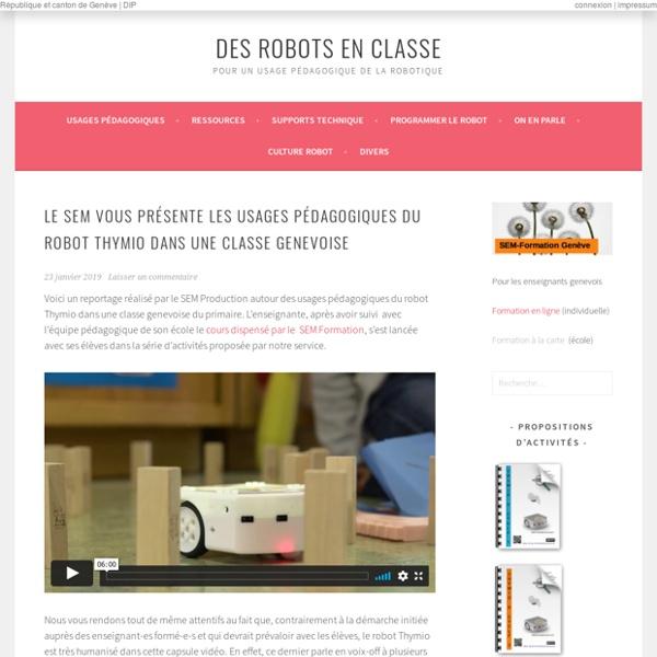 Des robots en classe -