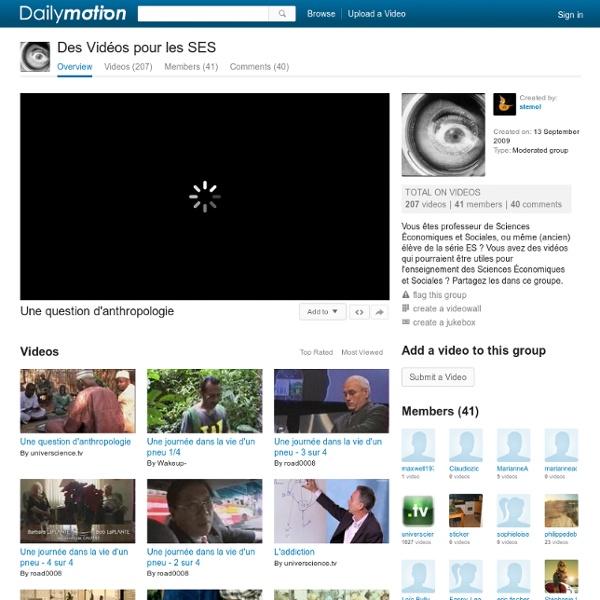 Des Vidéos pour les SES