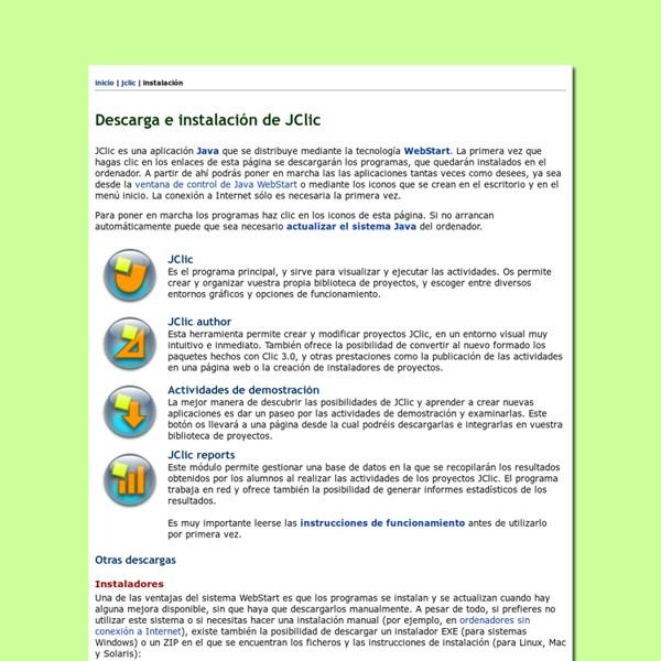 Descarga e instalación de JClic