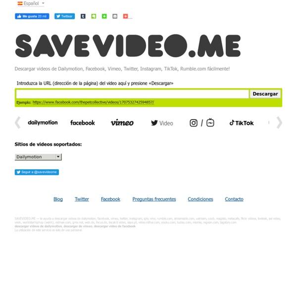 Descargar videos de dailymotion, descargar vimeo y otros!