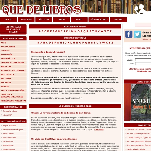 Descargar libros gratis | QuedeLibros.com