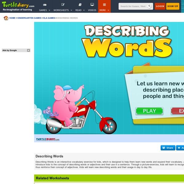 Describing Words - Adjective Words for kindergarten kids | Pearltrees